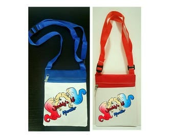 "10 Favor bags- Personalized Favor Bags,""Daddy's Lil Monster"", Harley Quinn Party, Customized  Favor Bags,  6""×8"" inches"