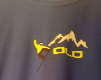 YOLO snowboading tshirt