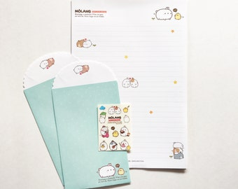 Molang Petite Daily Life - Letter Set