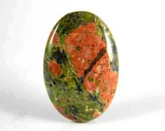 32x21 mm, Natural Unakite Cabochon, Oval Shape Unakite, Unakite Jewelry Craft Supply, Silversmith