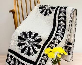 Black & Cream double quilt