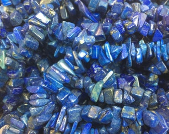 Lapis gen. A quality chip beads 36inch long!!!