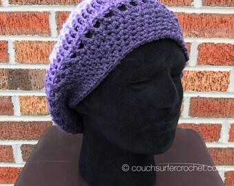 Crochet Slouchy Hat / Slouchy Hat / Slouch Hat / Striped Hat / Crochet Hat / Stripes / Handmade / Handmade Hat / Handmade Crochet / Slouchy