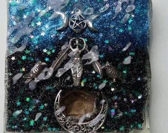 Morrigan Raven Goddess Light catcher