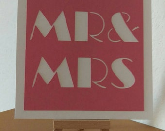 Mr and Mrs card // Mr and Mr // Mrs and Mrs // Wedding card // Happy Couple // Handmade