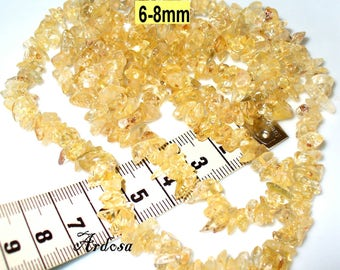 1 chain 90 cm citrine 6-8 mm (717.2)