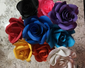 Colored Paper Roses