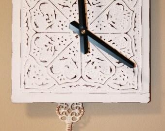 White Tile Clock