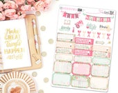 Barnwood Floral Sampler - Planner Stickers, Bujo Stickers, Sampler stickers, Sampler set, Sticker Sampler, floral stickers