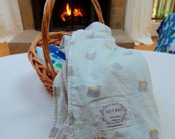 Baby Blanket, Royal Koala, Flannel and Minky