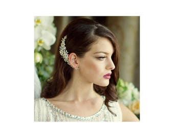 Pearl hair comb, freshwater peals, wedding hair comb, hair accessories, crystal  hair comb,    Bridal hair comb