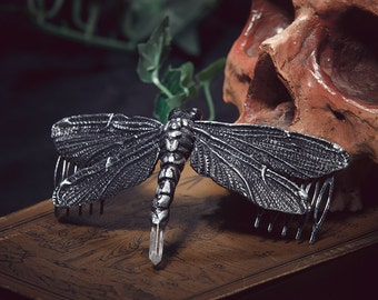 Dragonfly hair comb