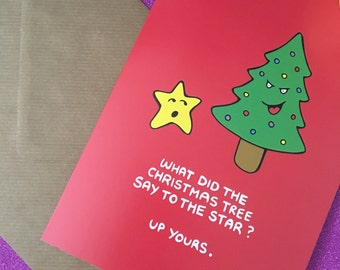 Offensive Christmas Card - Greetings Card - Xmas Card - Punny Christmas - Pun Card - Rude Christmas Card - Funny Card