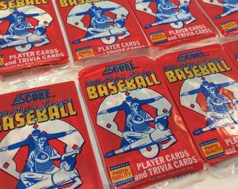 Score Major League Baseball Cards 1988 Unopened Packs Lot of 8 and Bonus