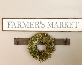 Farmers Market Sign | Farmers Market | Farmhouse Sign | Farmhouse Decor | Kitchen Decor