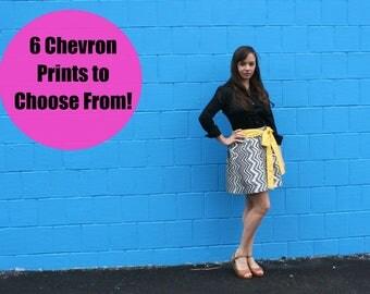 Various Chevron Patterns, Womens Skirt, 2 COMPLIMENTARY Sashes, 100% Custom, Handmade Skirt, A-Line Skirt, Cotton Skirt, Mini Skirt