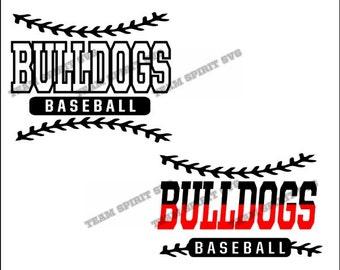 Bulldogs Baseball Laces Download Files - SVG, DXF, EPS, Silhouette Studio, Vinyl Cut Files, Digital Cut Files -Use with Cricut, Silhouette