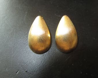 Stainless Steel Tear Drop Gold over Post Earrings  Must See!