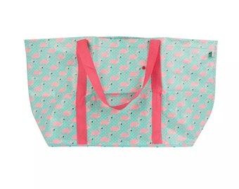 Sass&Belle- Large Flamingo Shopping Bag, Shoulder Tote Beach