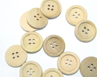 Wooden buttons scattered parts Naturdeko buttons extra buttons for decoration craft supplies button nature