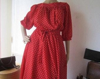 Vintage 50s polka dot dress rockabilly dress S / m