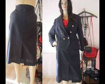 Vintage 80s costume costume skirt Blazer high waist Delmod M