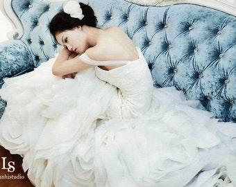 LS29/ Phoenix/ 3D lace wedding dress