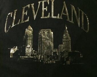 Vintage Cleveland Skyline Metallic Tee XL