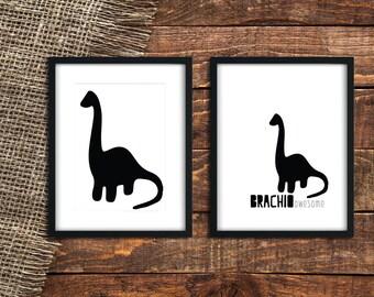 BRACHIOSAURUS   Dinosaur Print   Dinosaur Decor   Dinosaur Decoration   Dino Print   Brachiousaurus   Dino   Dinosaur   Dinos   Dinosaurs
