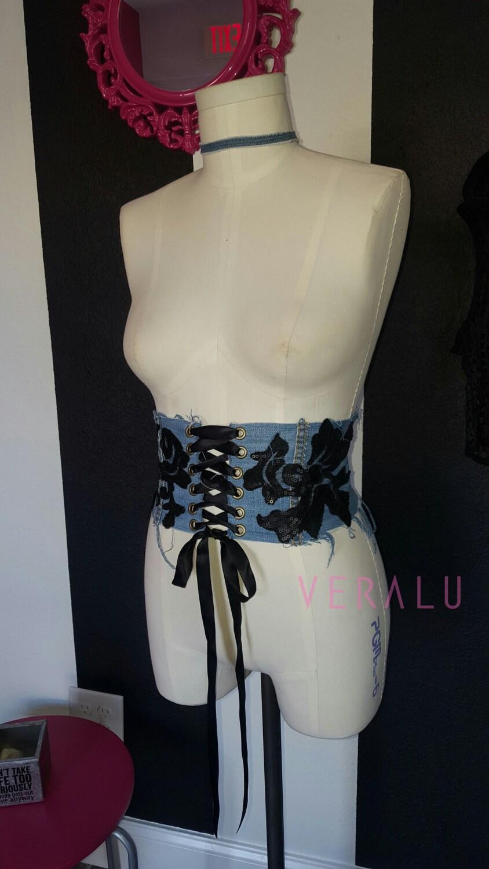 VERALU Denim corset belt Getwaisted