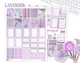 Planner girl, weekly planner sticker kit, use with Erin Condren, Printable Planner sticker kit, Lavender Planner Sticker, Spring Sticker