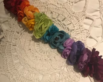 Rainbow Flower Browband