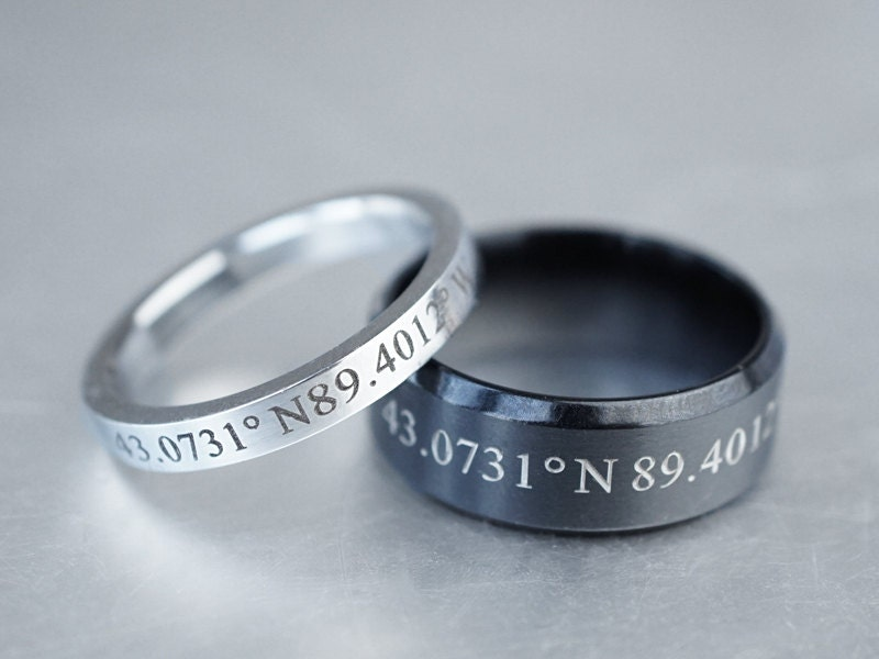custom coordinate rings for couples matching couple rings. Black Bedroom Furniture Sets. Home Design Ideas