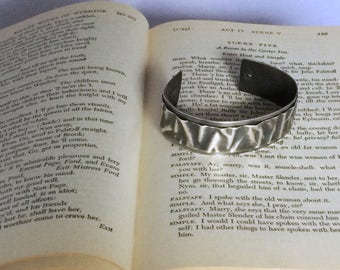 Sterling silver ribbon cuff