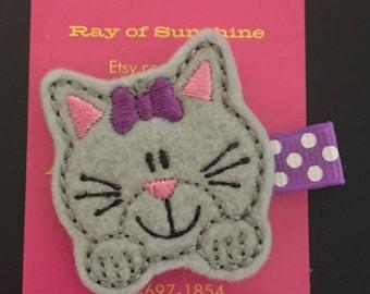 Cat kitten hair clip