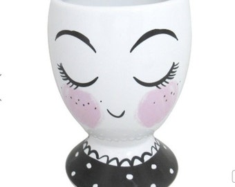 Target- Ceramic Cup Pencil Holder Trinket Dish, Girl - Threshold
