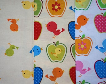 Birds and Apples by Timeless Treasures - Quarter Yard Bundle - 3 pieces