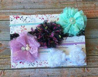 Baby Headband Gift Set, Baby Headband, Baby Headband Set, Headband Set, Newborn Headband, Infant Headband, Baby Shower Gift, Baby Girl, Baby