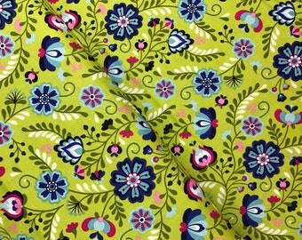 Main in Green from the Juxtaposey Collection by Betz White for Riley Blake, Cotton Fabric, Choose Your Cut