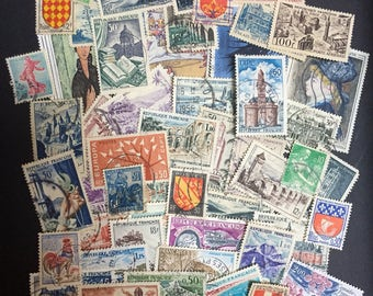 50 French Postage Stamps