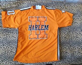 HARLEM jersey New York t-shirt vintage of 90s hip-hop clothing, 1990s hip hop, OG, gangsta rap, Fubu size M Medium