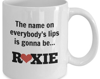 CHICAGO The MUSICAL Inspired Mug - ROXIE Hart - Broadway Fan Gift - 11 oz white coffee tea cup