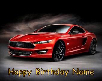 Mustang Cake Topper Etsy