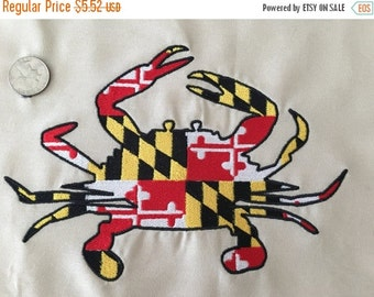 Maryland Flag Crab Embroidery Design