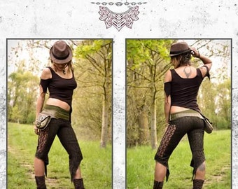 Trousers / Leggins in nomadic chic bohemian lace fairy trance