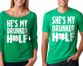 St Patrick's Day Irish Drinking Couple T-Shirts Irish St Patrick's Day Party Tee Shirts
