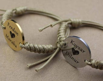 Customized Stainless steel Circle Children ID Tags Anti-lost tag Engraved with words