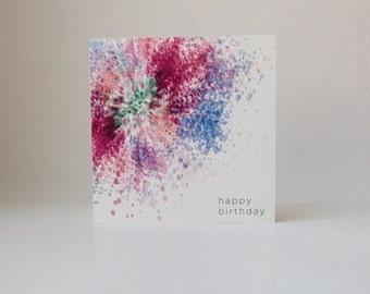 Tye Dye Birthday Card