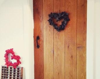 Harris Tweed door heart wreath