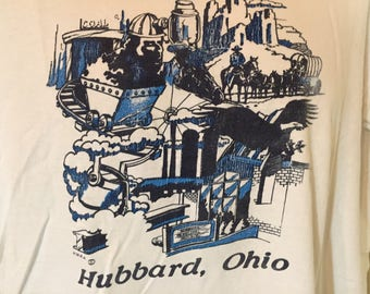HUBBARD OHIO -TRUMBULL County -Coal -T-Shirt Adult xL    z